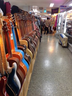 Nagwon Instrument Arcade in Insa-dong - lots of guitars.