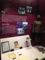 Exhibit on female soldiers during the Korean War.