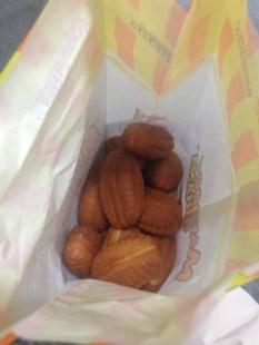 Manjoo Hana treats, bought at a subway station.