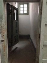 This room contained three separate isolation cells.