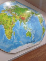 This map was in the global collections room. Pretty weird to see the world map reversed! With North America on the other side.