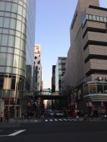 We have arrived in Ginza.