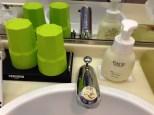 I took full advantage of the Shiseido Face Soap. :)