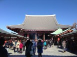 Walking up to Sensoji Temple.