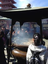 Incense ritual. Wafting it all over themselves.