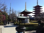 On the grounds of the Sensoji Temple.