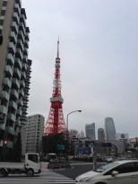 Walking toward Tokyo Tower.