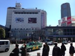 View of Shibuya Station from across the street.