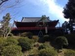 Kiyomizu Kannondo Temple up on a hill.