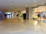 Large hallway with Museum Shop, Book Store, Food Court and more.