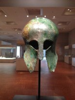 A bronze helmet from 6th century Greece gifted to Sohn Kee-chung, a Korean athlete and Olympic gold medalist.