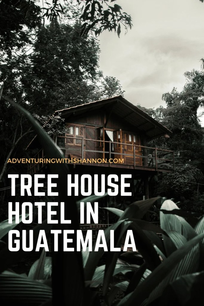 Earth Lodge is one of the most unique places that I have ever stayed at! It is located just ABOVE the beautiful city of Antigua, and it features #TREEHOUSE accommodations. Earth Lodge is the most unique place to stay in #Antigua, Guatemala.