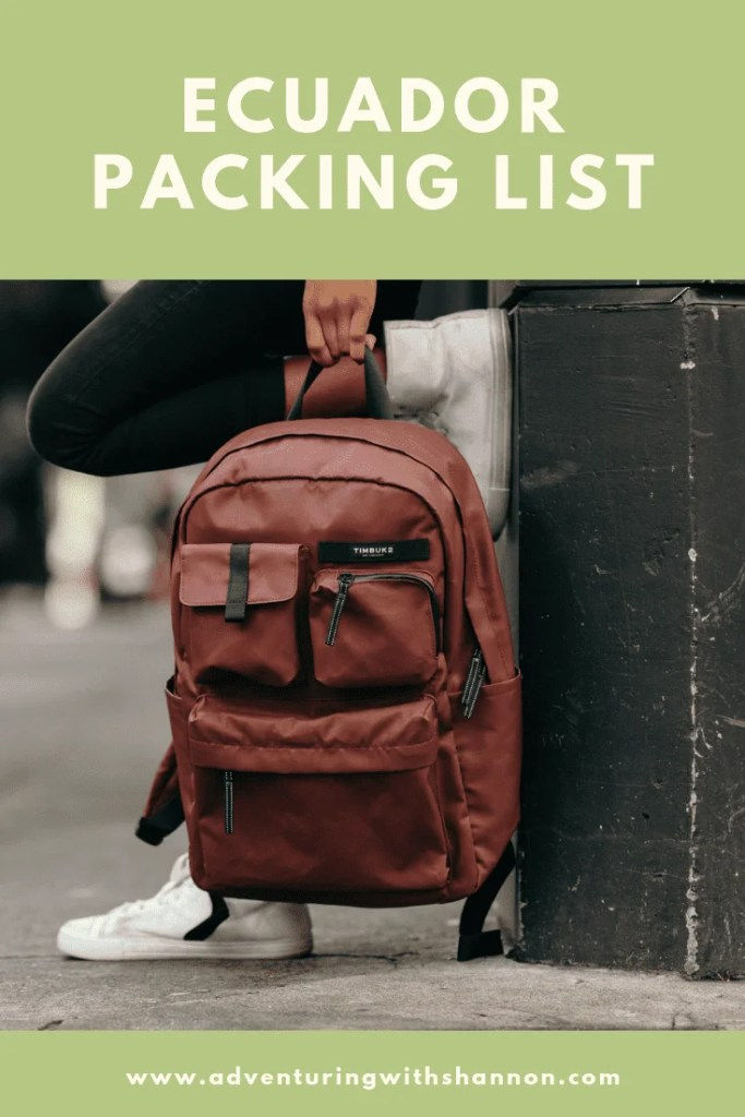 Ecuador Packing List