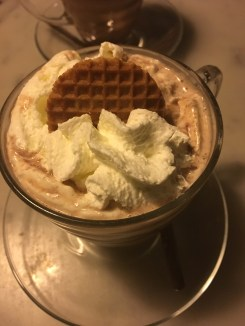 the hot chocolate had a stroopwafel in it!