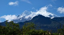 Snowcapped volcano, Antisana in Papallacta, view from the hot springs- Cotacachi, Papallacta, Atahualpa