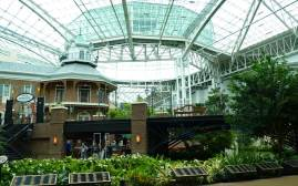A trip to Nashville should include a visit to the amazing enclosed gardens at the Gaylord Opryland Resort