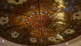 Nashville's Gaylord Opryland Resort Lobby ceiling