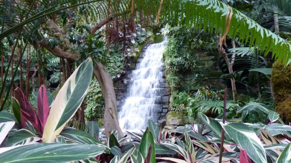 Nashville Gaylord Opryland Resort one of several waterfalls