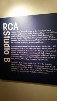 RCA Studio B history