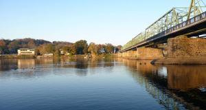 New Hope Lambertville Bridge into New Hope