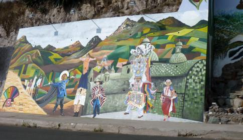 Quilotoa Loop mural - Tigua Style