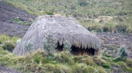Indigenous home - straw mud hut on Quilotoa Loop