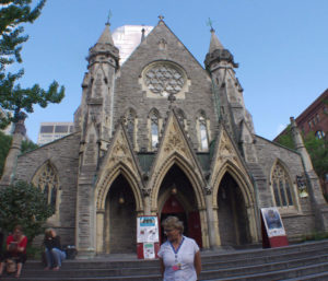 Christ Church Cathedral front view, Canadian Bus trip