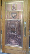 Copper doors at Sainte Anne de Beaupre