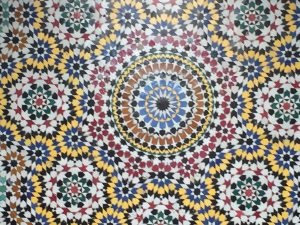 Tile facade of Morocco building
