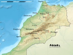 Tour map of Morocco