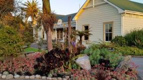 Karamea Hotel front garden