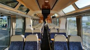 TranzAlpine Scenic Railway before departure