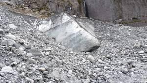 Ice boulder from the Franz Josef Glacier