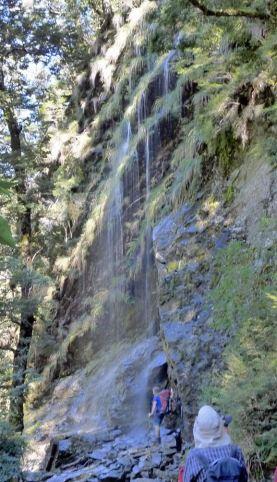 Waterfall along Routeburn track New Zealand - Glenorchy