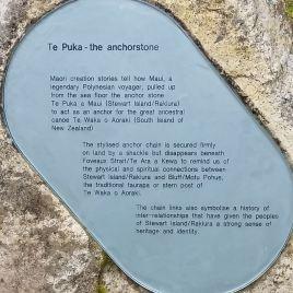stewart-island-anchor-chain-sculpture-anchorstone-te-puka-sign