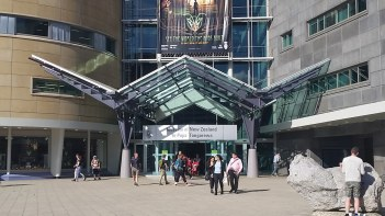 Te Papa museum entrance in Wellington