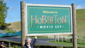 Hobbiton Movie Set Welcome sign