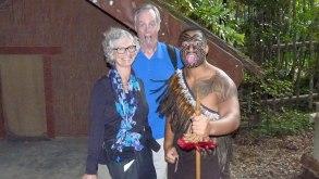 Tamaki Maori Village warrior and guests