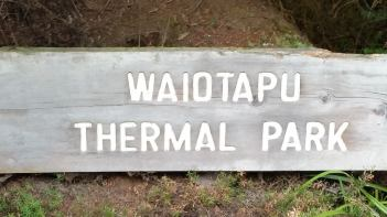 Waiotapu Thermal Park sign