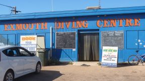 Exmouth Diving Centre shop entrance