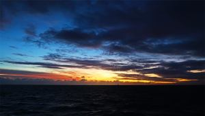 Sunset on the Great Barrier Reef, image credit Sola Hayakawa