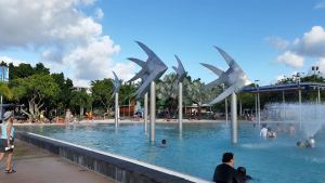Fish sculptures at the Cairns Esplanade Lagoon