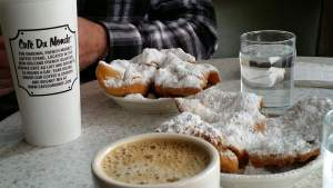 Beignet - The classic deep-fried pastry at the famous Cafe du Monde in New Orleans