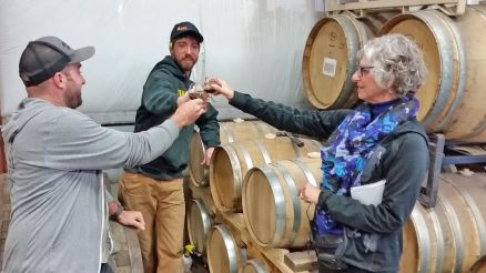 Flagstaff Arizona Attractions Historic Tap Room - Sampling barrel-aged beer
