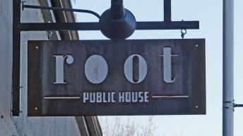 Root Public House restaurant sign