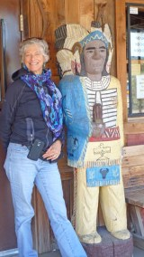 Tortilla Flat, AZ, wooden Cigar Store Indian