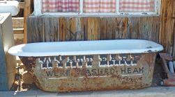 Tortilla Flat, AZ, Wyatt Earp bathtub