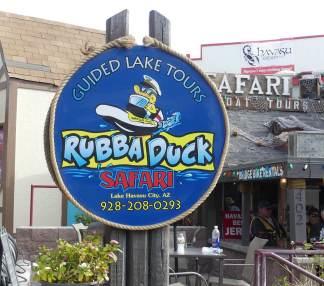 Arizona's Playground-Lake Havasu's Rubba Duck Safari boat tours