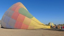 Hot Air Expeditions - Inflating the balloon
