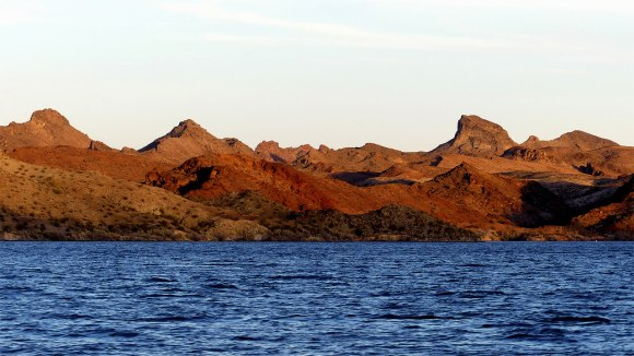 Lake Havasu shoreline sunset